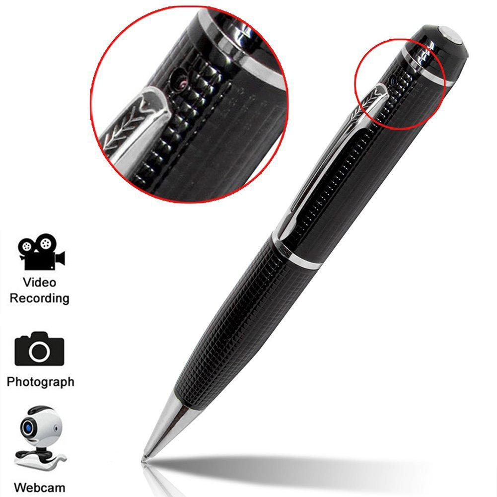 Hidden Pen Camera, CAMXSW Hidden Spy Pen Camera Tech Gadget 1080P High Reslution DVR, Video Camcorder, Webcam, HD Business Portable Spy Pen Camera, Mini Security & Surveillance(Sliver)