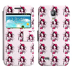 LEOCASE linda chica Funda Carcasa Cuero Tapa Case Para Samsung Galaxy S4 Mini I9190 No.1003865