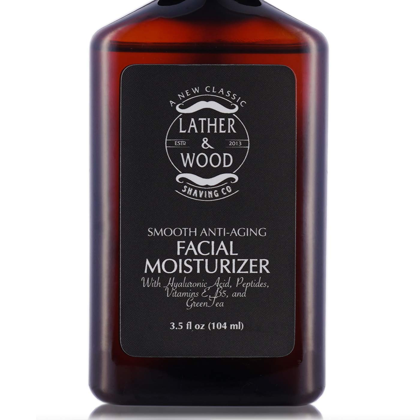 Face Moisturizer for Men - Lather & Wood's Luxurious Sophisticated Mens Moisturizer for the Man's Man. Fragrance-Free Face Cream for Men. (Unscented, 3.5 ounce) by Lather & Wood Shaving Co.
