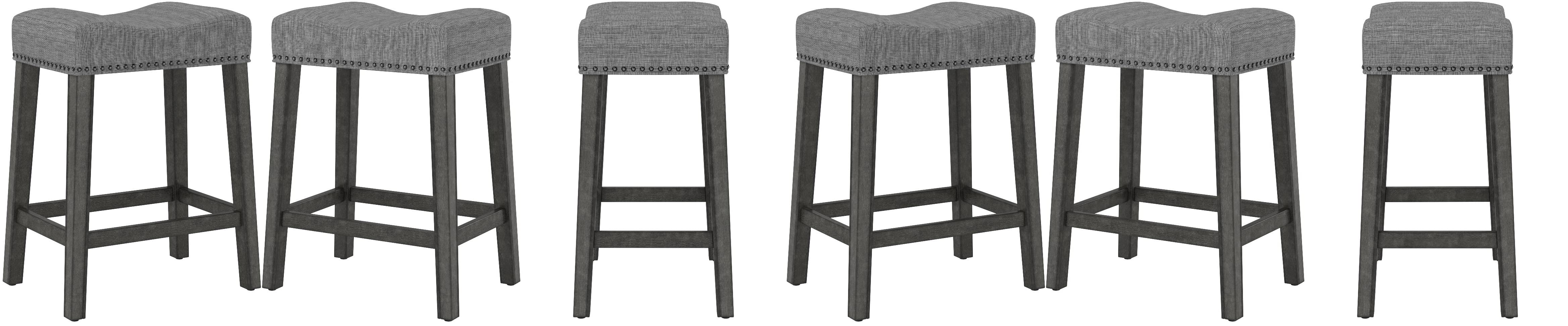 Amazon Com Roundhill Furniture Coco Upholstered Backless Saddle Seat Counter Stools 24 Height Set Of 2 Gray Furniture Decor