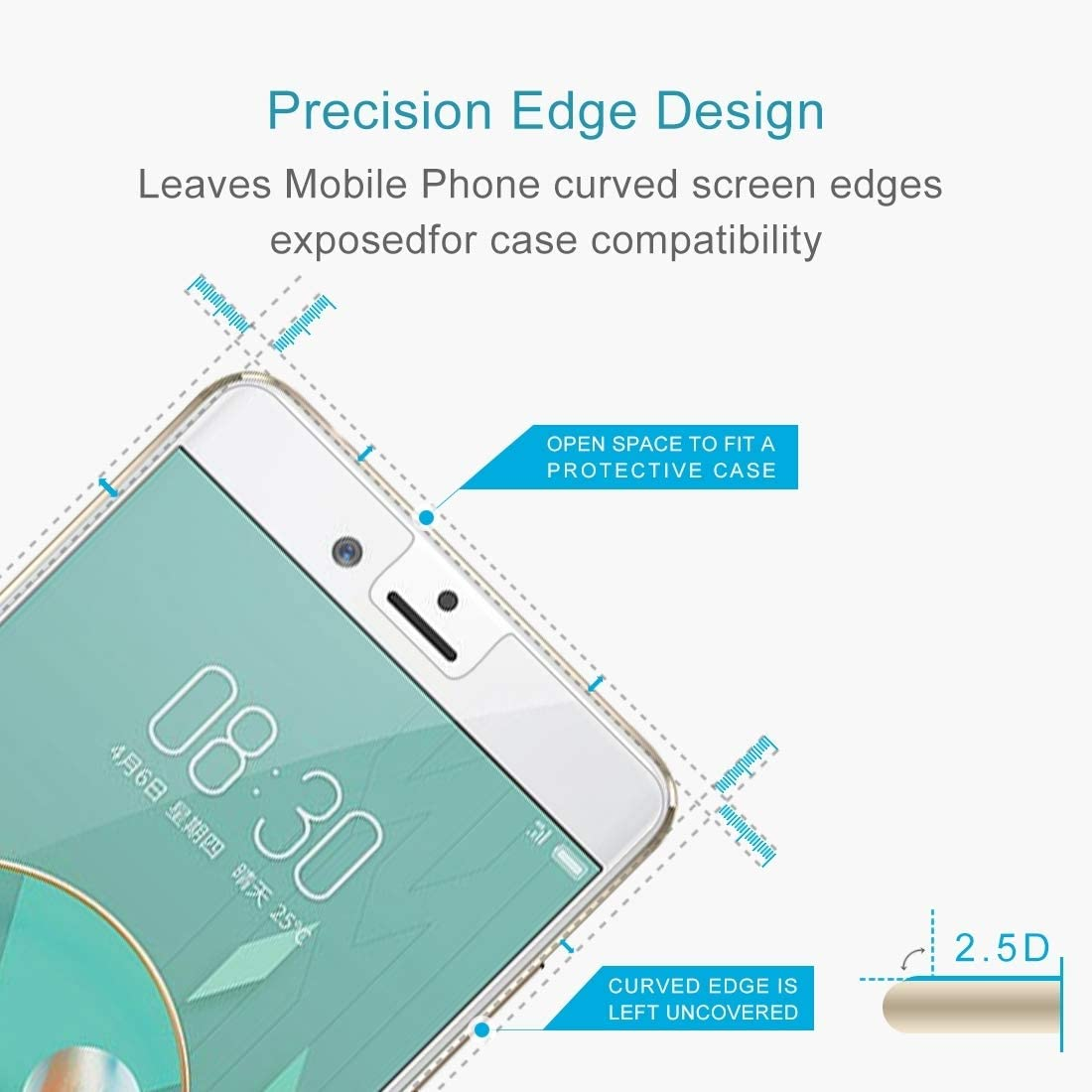 YINZHI Screen Protector Film 100 PCS 0.26mm 9H 2.5D Tempered Glass Film for ZTE Nubia Z17 Mini Clear