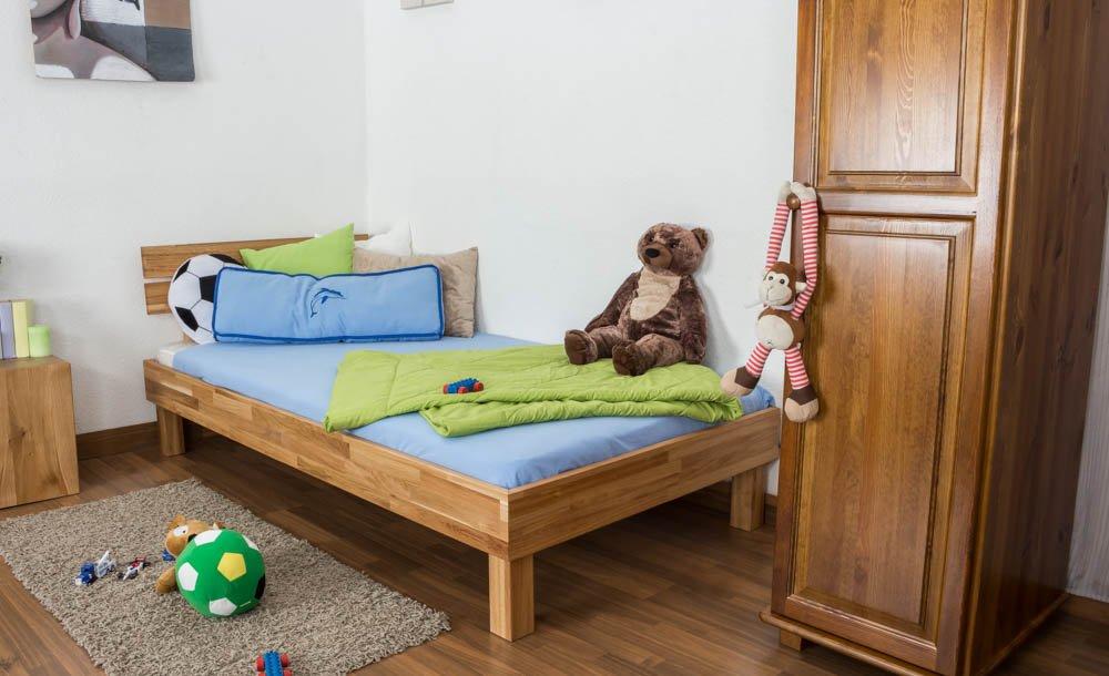 Jugendbett Wooden Nature 03 Eiche geölt, massiv - Liegefläche 90 x 200 cm