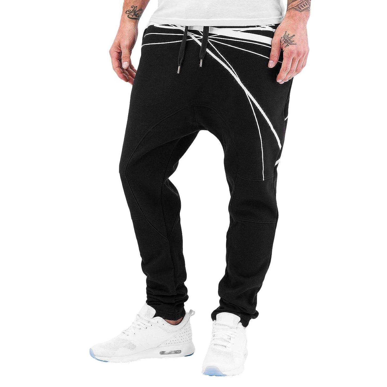Bangastic Whites Tripes Men's Jogging Trousers Black