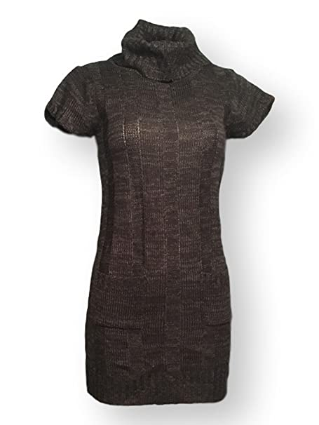 Ambiance Apparel Women S Tunic Woven Sweater Black And Charcoal