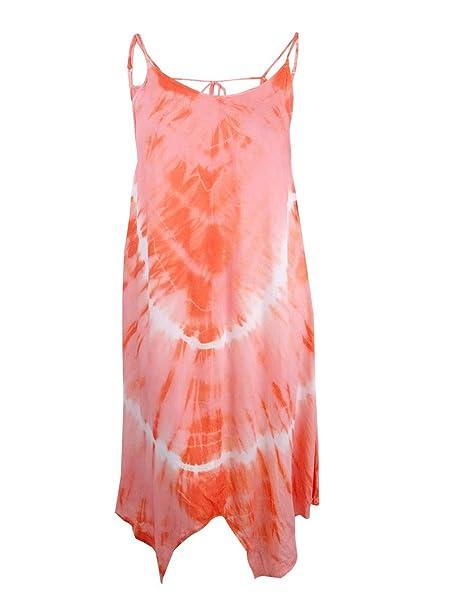 cd506405256a0 Raviya Tie-Dye Handkerchief Maxi Dress Cover-Up Women s Swimsuit Medium at  Amazon Women s Clothing store