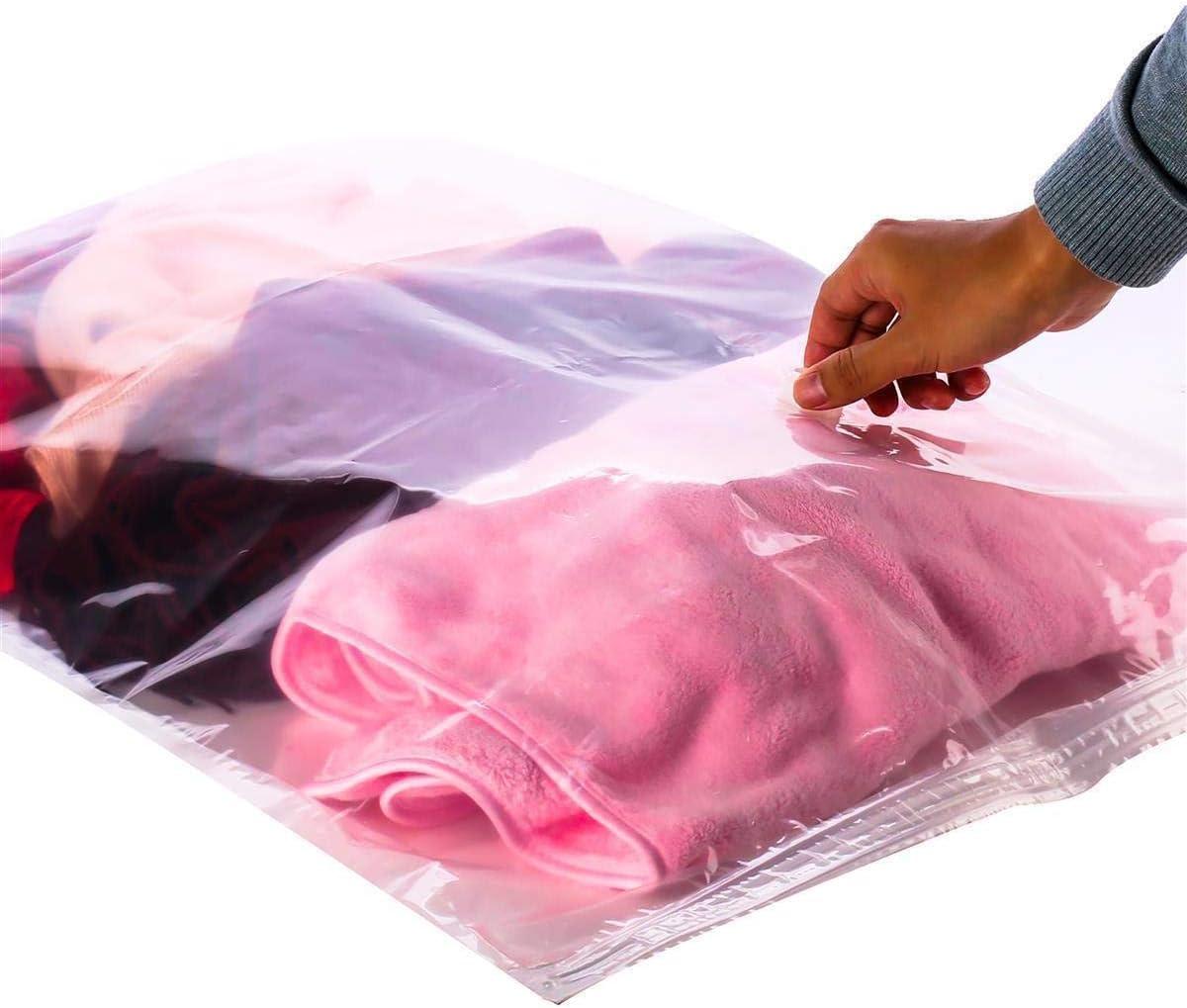 Alaskaprint 12x Vakuumbeutel Kleidung XXL f/ür Bettdecken Bettw/äsche Gro/ß Aufbewahrungsbeutel Staubsauger Vacuum Vakuum Reise Kleiderbeutel Vakuumierbeutel 60 x 80CM