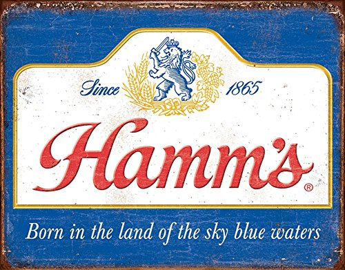Hamm's - Sky Blue Waters Tin Sign 16 x 13in by TSFD