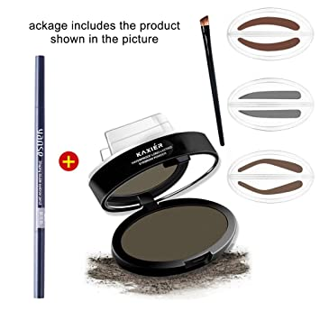 Amazon HER NAME 1 Set Pro 3 Add An Eyebrow Brush Best Stamp For Perfect Drawing Eye Brow Waterproof Long Lasting Powder