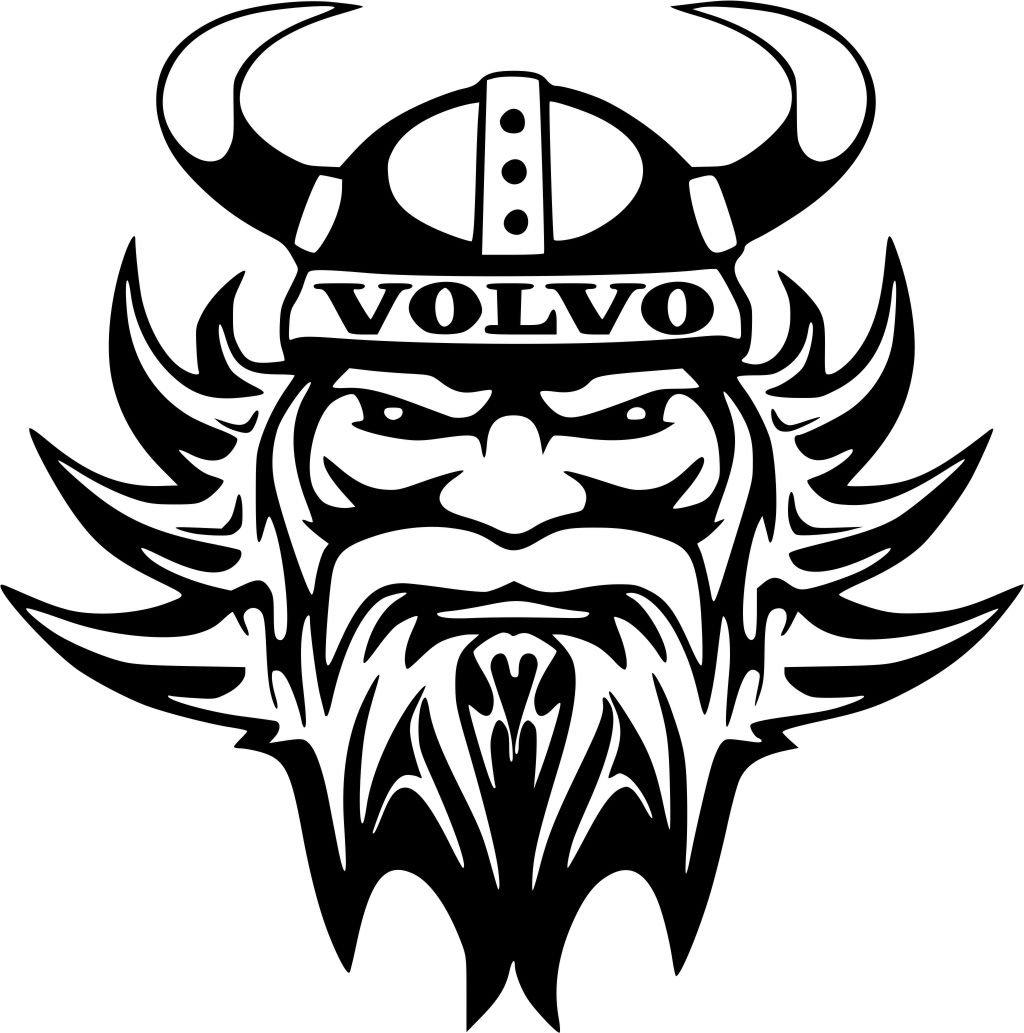 Volvo vikingerkopf aufkleber autoaufkleber sticker auto bonus testaufkleber estrellina glückstern gedruckte montageanleitung von myrockshirt