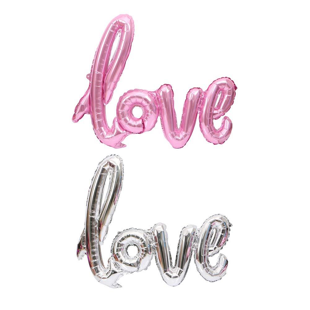 Festa di San Valentino Love Letter Foil Balloon Fidanzamento Wedding Party Decoration Silver Bbl345dLlo Festa Palloncini Matrimonio Palloncini