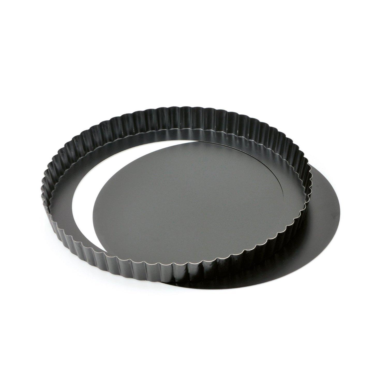 Quicheform mit Hebeboden ø 28 cm | Antihaftbeschichtung herausdrückbarer Hebeboden gleichmäßige Bräunung | Abnehmbare Basis by TARGARIAN
