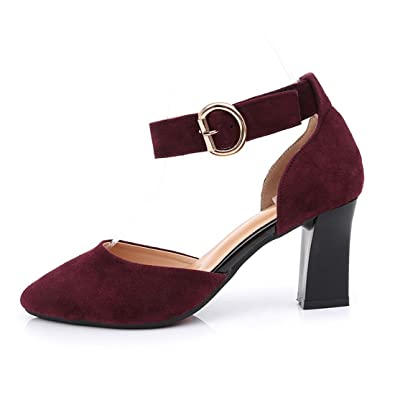 3e66a43a7ab22 Amazon.com | WXMDDN Latin Dance Shoe Girl Wine Red Dance Shoes Adult ...