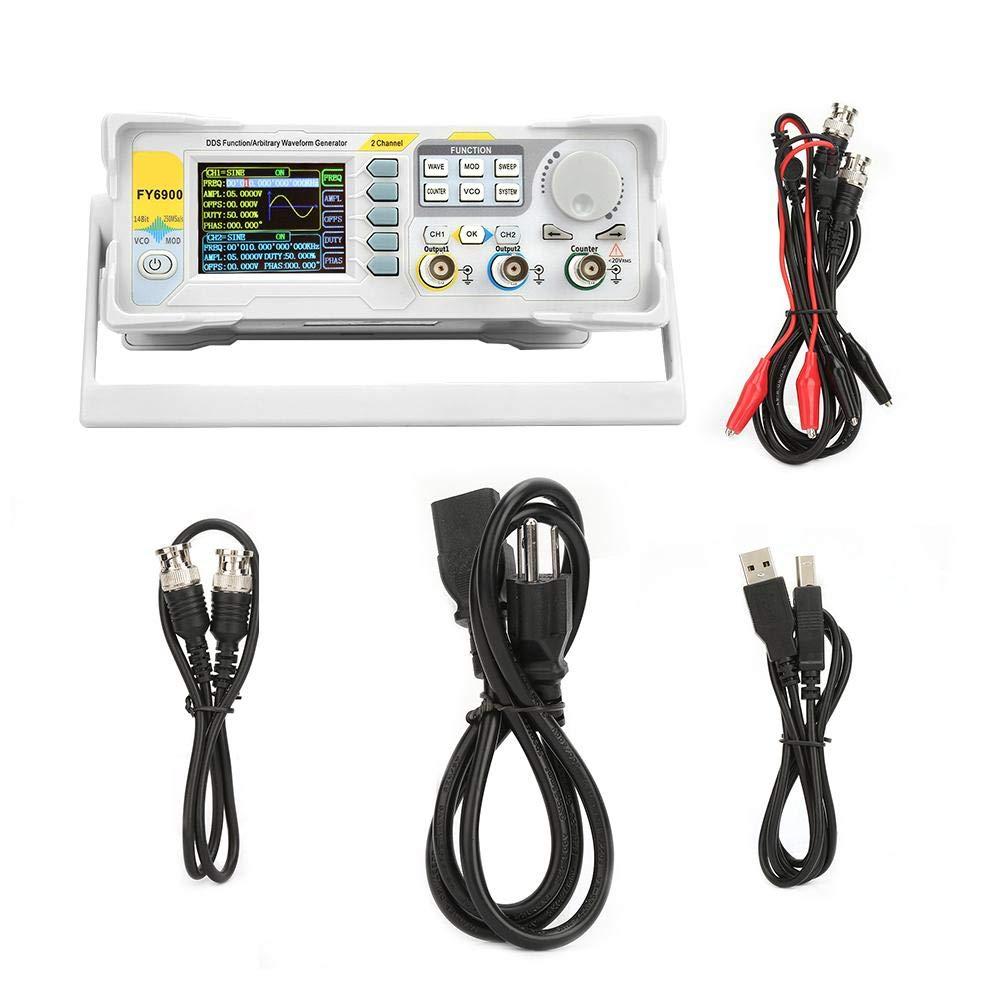 Wocume FY6900 Sine 0-40 MHZ 2.4in TFT Screen Digital Signal Generator Measurement US Plug