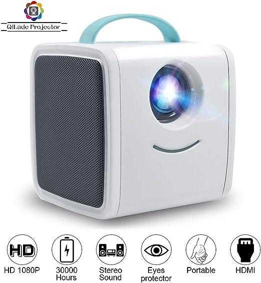Proyector LED, HD LED 1080P Mini proyector Educativo para niños ...