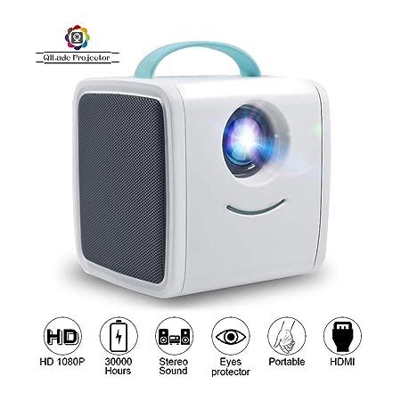 Proyector LED, HD LED 1080P Mini proyector Educativo para ...