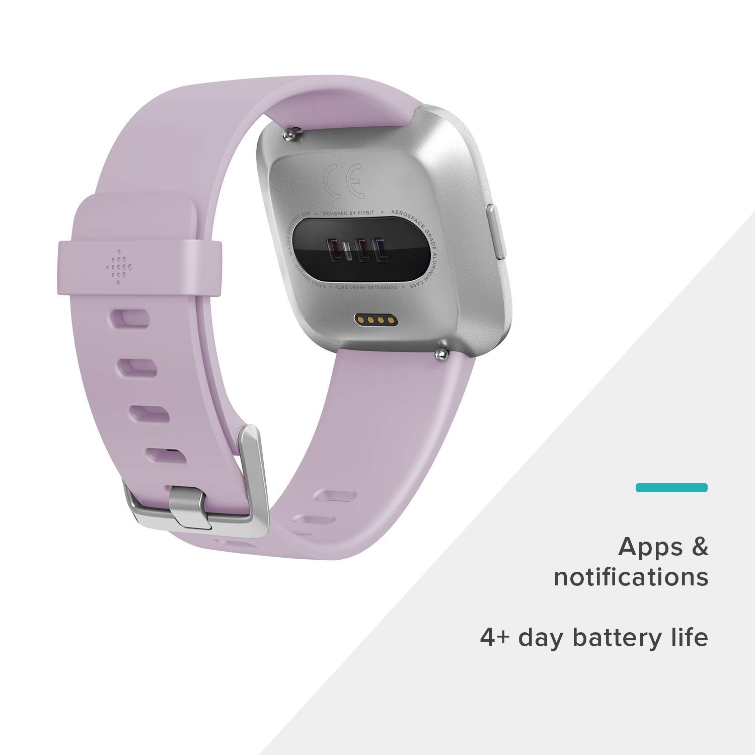 Fitbit Versa Lite Edition Smart Watch, 1 Count (S & L bands included) by Fitbit (Image #3)