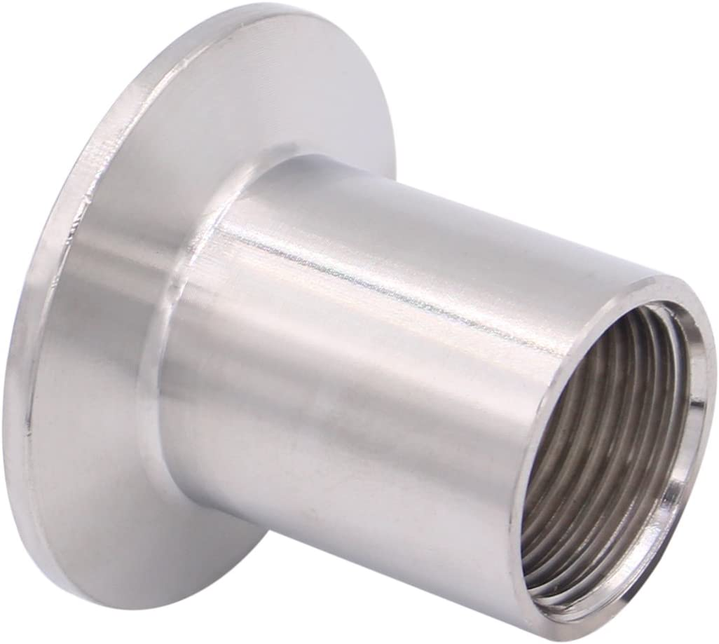 Pipe Size: 3//4 NPT DERNORD Sanitary Female Threaded Pipe Fitting to 1.5 Inch TRI CLAMP OD 50.5mm Ferrule
