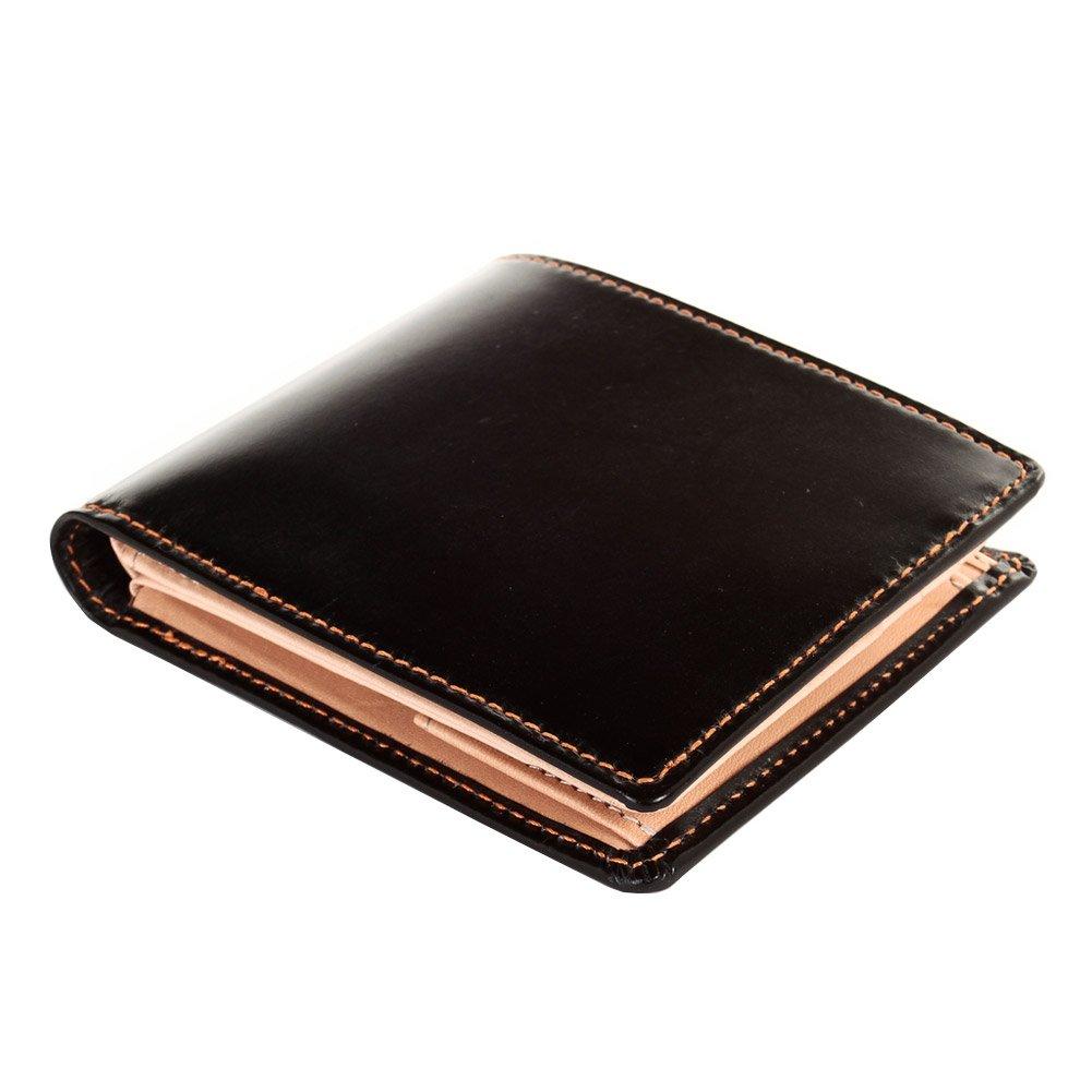 [ブリティッシュグリーン] ブライドルレザー 二つ折り財布 メンズ 本革 NEWモデル B076P3T5XR 13.オレンジステッチ 13.オレンジステッチ