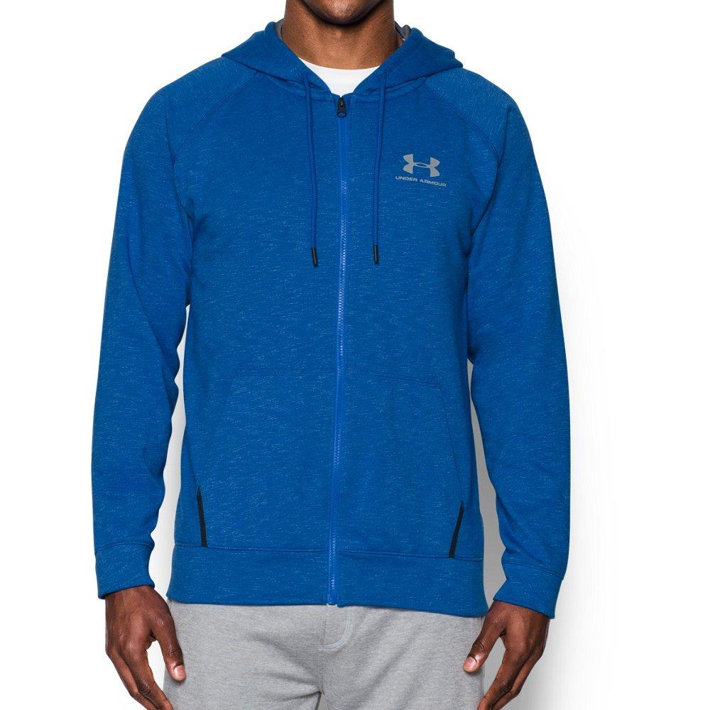 Under Armour Men's Sportstyle Fleece Full Zip Hoodie, Royal /White, Large