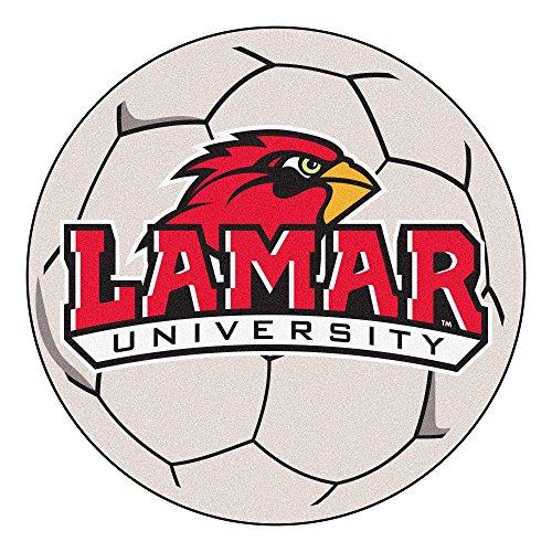 (NCAA Lamar University Cardinals Soccer Ball Mat Round Area Rug)