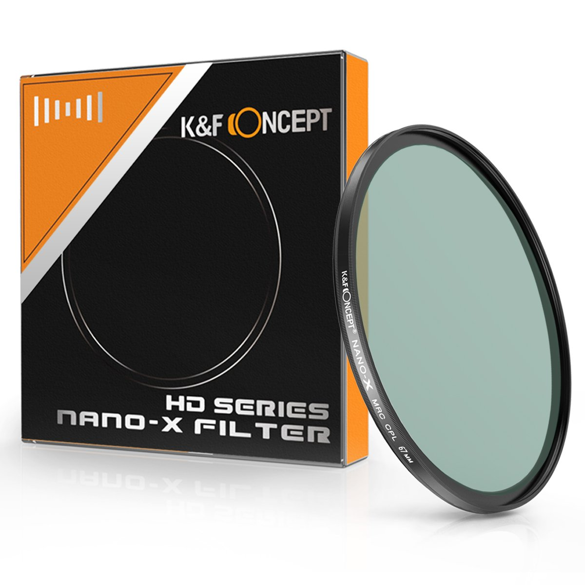 CPL Filter 67mm, K&F Concept 67MM Circular Polarizer Filter HD 18 Layer Super Slim Multi-Coated CPL Lens Filter Nano-X MRC Series Shenzhen Zhuoer Photograph KF01.881
