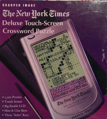 (Sharper Image The New York Times Deluxe Touch-Screen Crossword Puzzle)