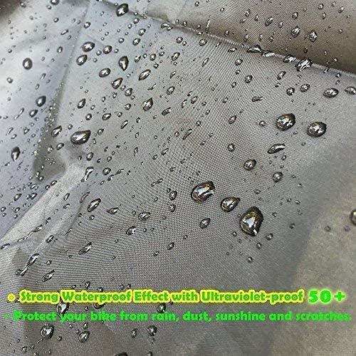 Motorrad Motorroller Abdeckung Motorradabdeckung 190t Winterfest Wasserdicht Motorradabdeckung Motorradgarage Vespa Plane Roller Moped Abdeckplane Winterfest Anti Staub Motorrad Regenschutz M Küche Haushalt