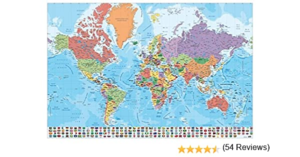 Grupo Erik Editores, S.L. - Póster mapa mundo-e grupo erik: Amazon ...