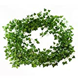 Artificial Ivy Plant Vines 12-Pack (84 Feet) - Fake Greenery Garland Home Decor