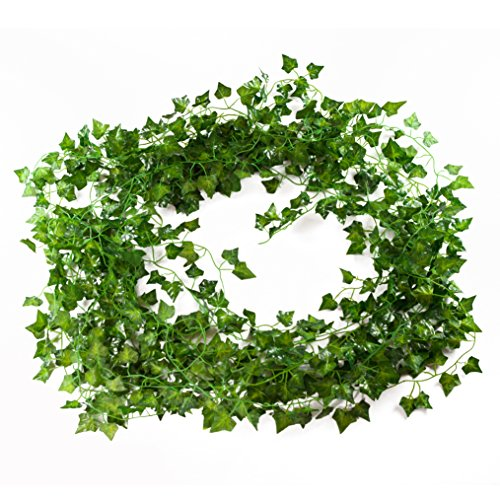 Artificial Ivy Plant Vines - 12-Pack (12 x 6.9 Feet) - Fake - Lobby Hobby Mirrors Bathroom