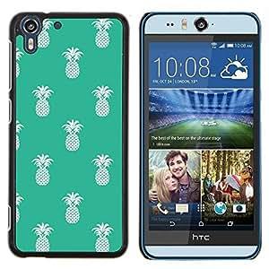 Stuss Case / Funda Carcasa protectora - Patrón Piña 420 Weed Verde Blanco - HTC Desire Eye ( M910x )