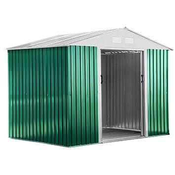 Casita Box Jardín Exterior Chapa galvanizada rispostiglio 201 x 181 x H190 Classic M