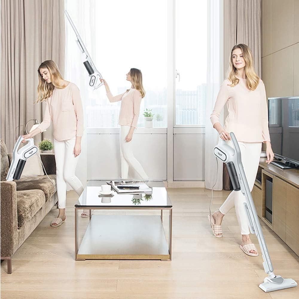 Smart Mute Aspirateur, Deux-en-un Aspirateur à main voiture, Sourdine grande capacité Aspirateur portable for la maison cadeau (Color : White1) White1