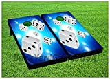 CORNHOLE BEANBAG TOSS GAME w Bags Game Dice Casino Gambling Boards Set 902