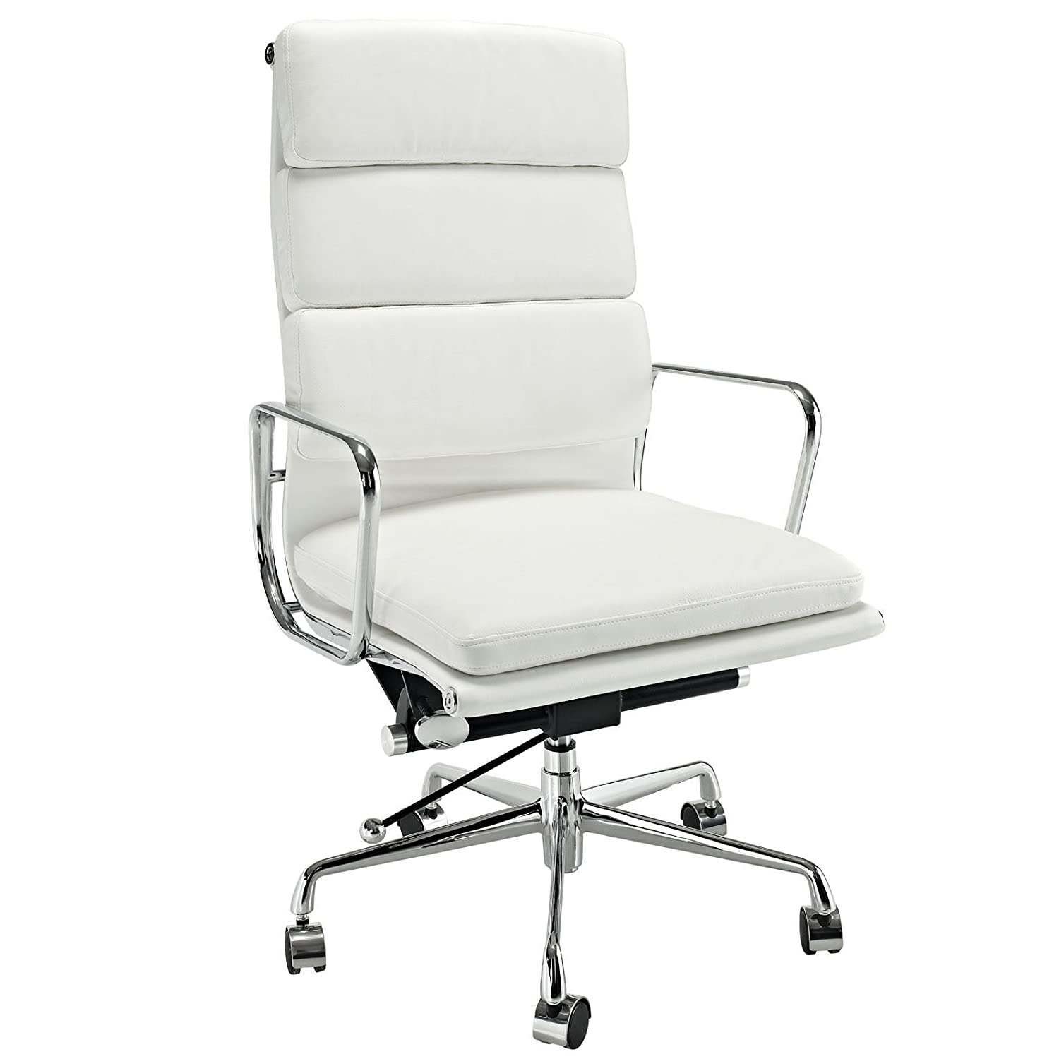 Astonishing Emodern Furniture Emod Eames Style Softpadded Executive Office Chair Reproduction Leather White Forskolin Free Trial Chair Design Images Forskolin Free Trialorg