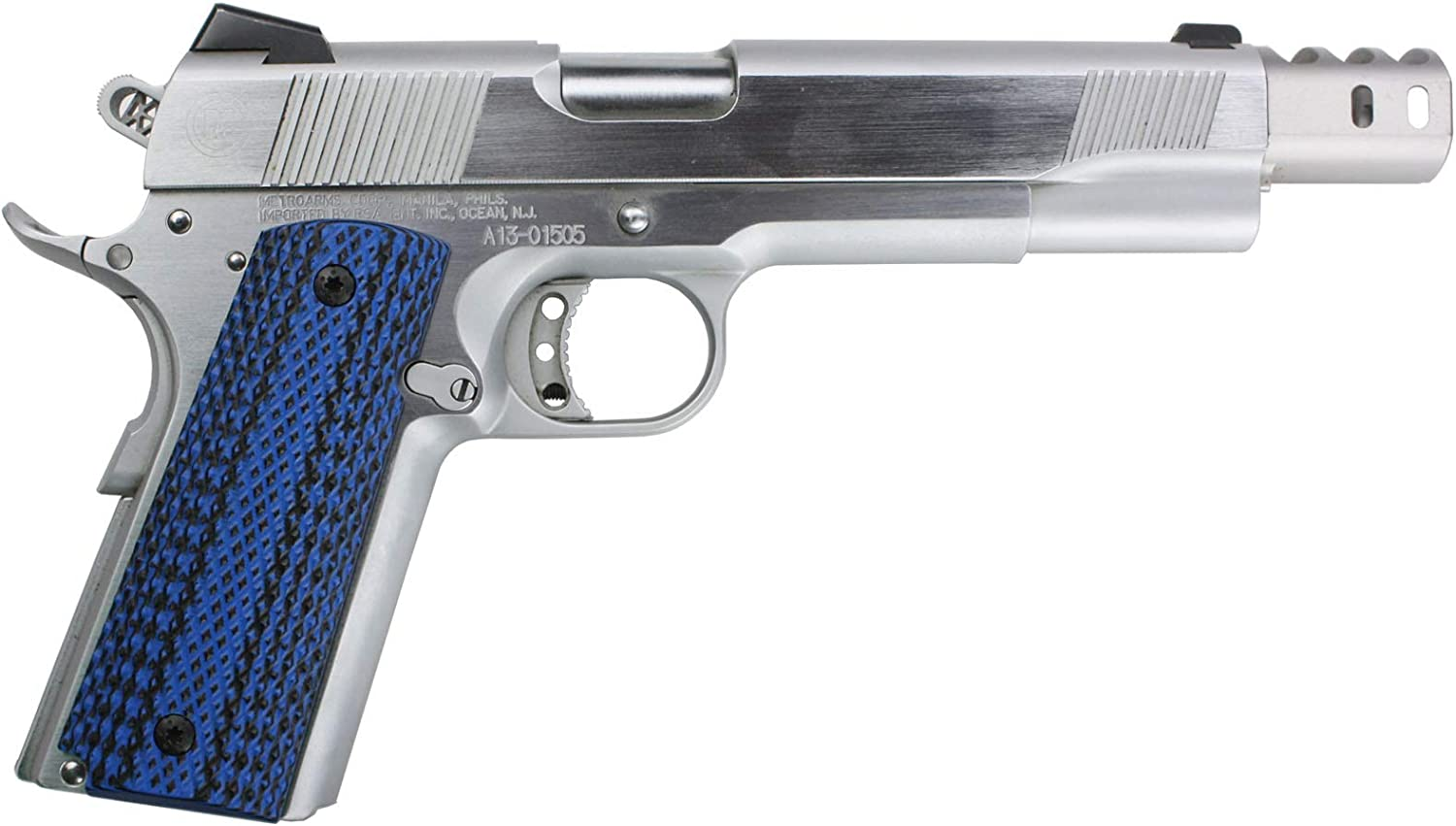1911 Aggressive Star Grips Black G10 Full Size Compact Springfield EMP PT1911