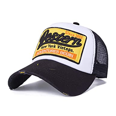 2019 New Summer Baseball Cap Embroidery Mesh Cap Hats for Men Women Gorras Hombre Hats Casual Hip Hop Caps Dad Black at Amazon Womens Clothing store: