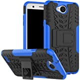 LG X Charge Case,LG Fiesta LTE Case,LG X Power 2 Case,Yiakeng Shock Absorbing Dual Layer Protective Fit Armor Phone Cases Cover Shell For LG Fiesta LTE,X Power 2,LV7 (Blue)
