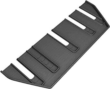 3D MAXpider L1TL00521509 Second Row Custom Fit All-Weather Kagu Series Floor Mats in Black for Select Front Tesla X Folding 7-Seats Models