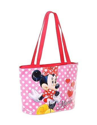 56fd9cf688 Minnie Sac de plage - Cabas enfant fille Rose/rouge 36x24cm - Rose/rouge,  Taille unique: Amazon.fr: Vêtements et accessoires