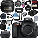 Nikon D5600 DSLR Camera (Body Only) (Black) 1575 AF-S DX 35mm f/1.8G Lens 218352mm 3 Piece Filter Kit + 256GB SDXC Card + Card Reader + Professional 160 LED Video Light Studio Series Bundle
