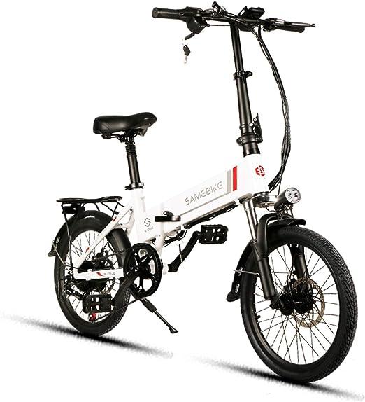Samebike bicicleta eléctrica plegable de 8 Ah batería de litio ...