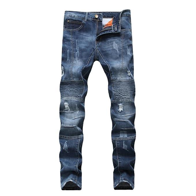 Pantalones Vaqueros Rasgados De Los Hombres Jeans Rasgados ...