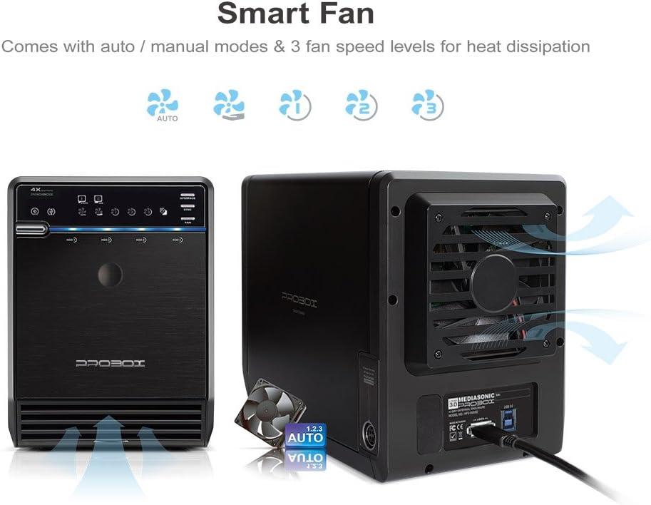 """USB 3.0 & eSATA Support 16TB Mediasonic HF2-SU3S2 4 Bay 3.5"""" SATA ..."""