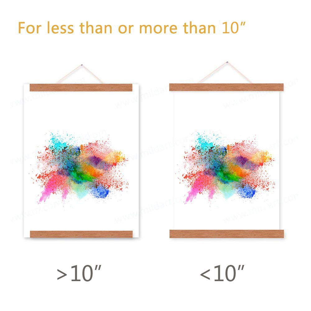 Benjia 10x14 10x15 10x13 Poster Frame, Magnetic Light Wood Frame Hanger for Photo Picutre Canvas Artwork Art Print Wall Hanging (1 Pack, 10'') by Benjia (Image #4)