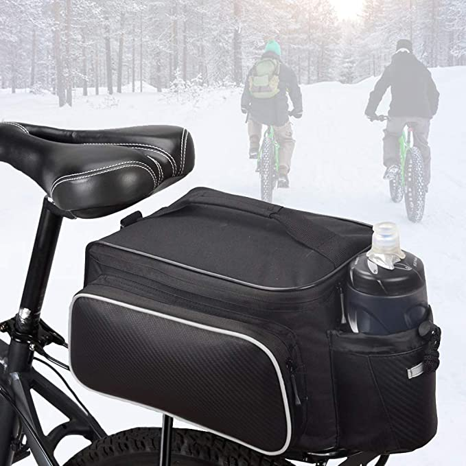 Double Panniers Waterproof Bag Bike Bicycle Cycling Pack Seat Trunk Rear V6O4