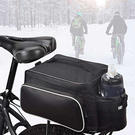 Bicycle Cycling Bike Rear Tail Seat Pannier Bag Pouch Rack Trunk Travel Shoulder