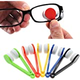 TILY 5 pezzi Mini Occhiali da Sole Occhiali da Vista Microfibra Occhiali Cleaner Spazzola Morbida Strumento di Pulizia Mini Microfibra Occhiali Occhiali Pulitore Clip di Pulizia (arancione)