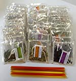 PowerTea Medley Gift Box Mighty leaf Variety 40 Tea Bags with Power for Apple Honey Sticks