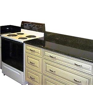 "Peel and Stick Black Faux Marble Granite Countertop Film Self Adhesive Vinyl Laminate Counter Top Contact Paper 36"" x 240"""
